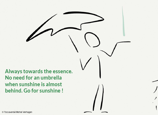 Always towards the essence. No need for an umbrella when sunshine is almost behind. Go for sunshine ! - (c) Michel Verhagen